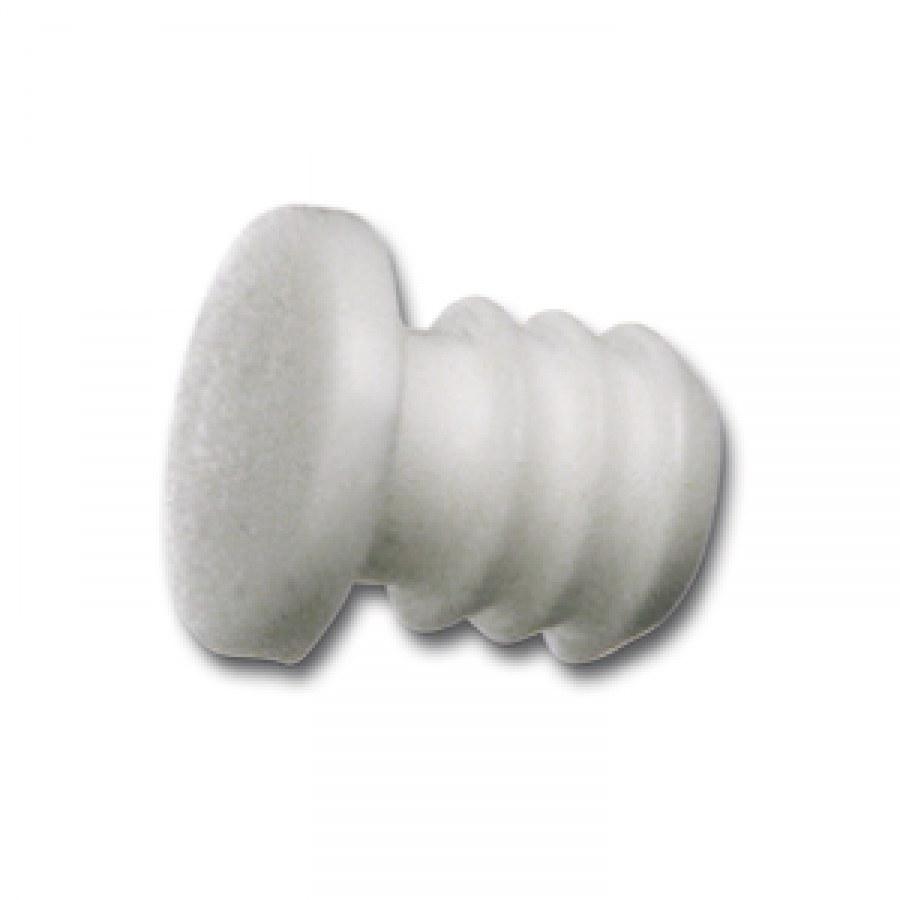 Tlumící narážecí čočka TD3, ø8, plast bílý - Tlumící prvky a těsnící profily
