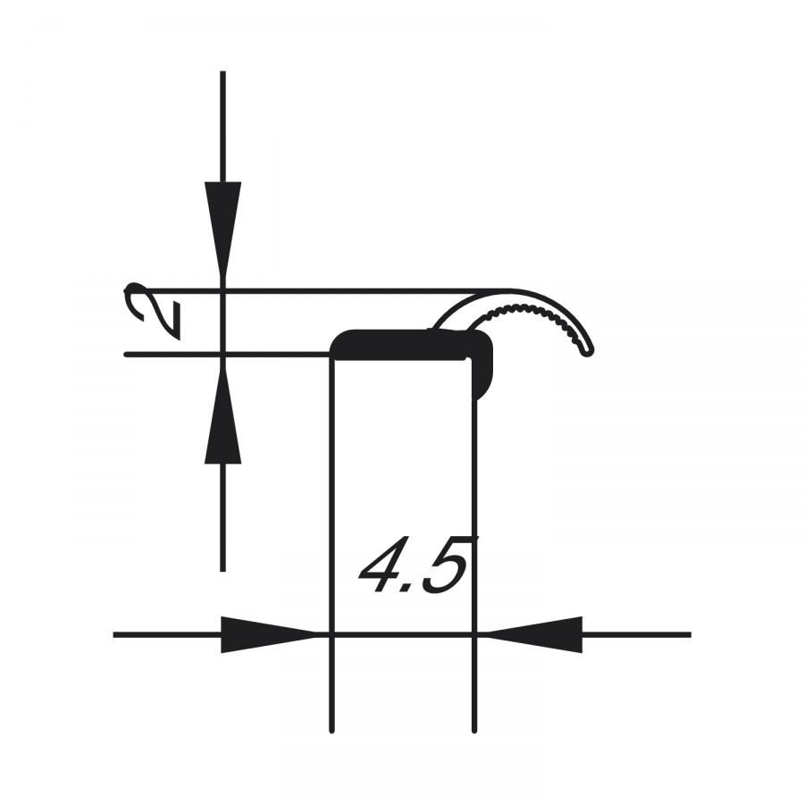 Speciální samolepicí těsnící profil pro spáry, plast transparentní - Tlumící prvky a těsnící profily