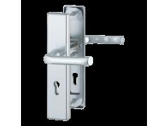 Kování Hoppe London Klika/klika 90 mm DVEŘE - Dveřní kování, dveřní příslušenství - Bezpečnostní kování - Bezpečnostní kování Hoppe široký štít - London