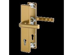 Bezpečnostní sada LONDON, klika-klika, PZ 92 mm, 67-72, hliník F4 bronz DVEŘE - Dveřní kování, dveřní příslušenství - Bezpečnostní kování - Bezpečnostní kování Hoppe široký štít - London