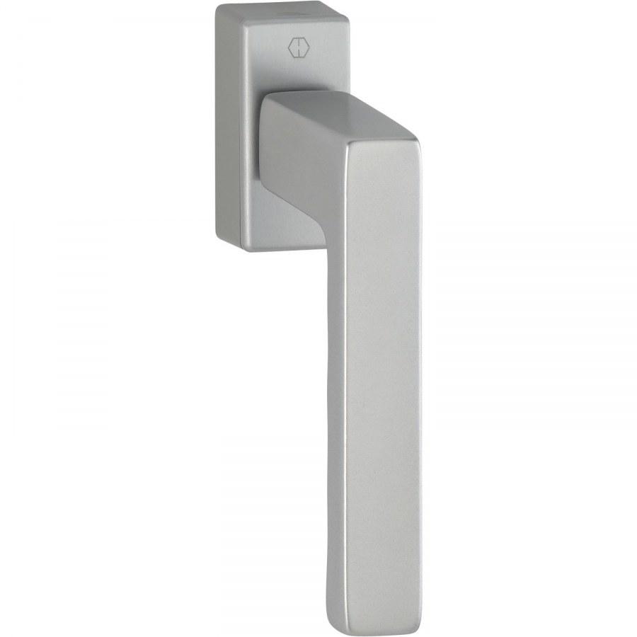 HOPPE okenní klika TOULON, čtyřhran 7 x 32-42 mm, stříbrný elox - okenní