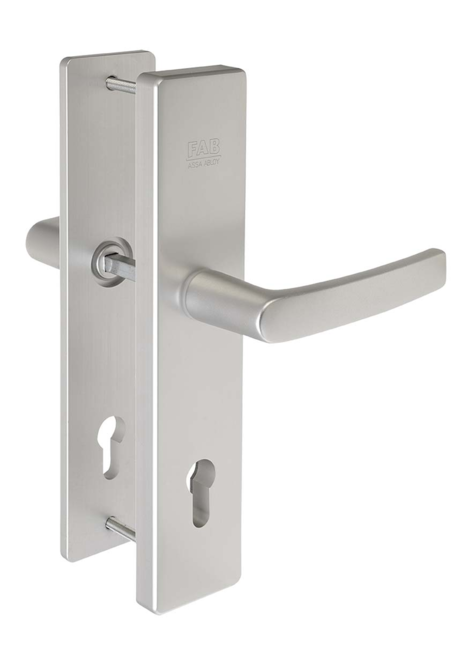 Hliníkové bezpečnostní kování klika - klika BK501 F1 - Bezpečnostní kování Fab