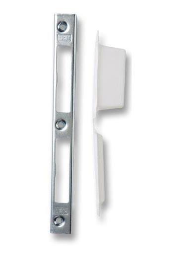 Zapadací plech univerzální úhlový K 193 + plastová vanička - Protiplechy k zadlabávacím zámkům