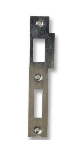 Zapadací plech rovný 2/2 - pro zámek s roztečí 90mm - pravý - Protiplechy k zadl. zámkům Hobes