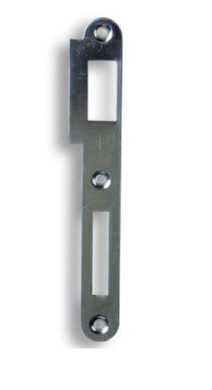 Zapadací plech rovný K 180 - pro zámek s roztečí 90mm - Protiplechy k zadl. zámkům Hobes