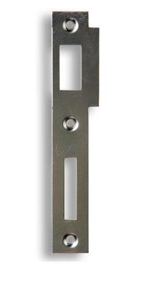 Zapadací plech rovný K 183 - pro zámek s roztečí 72mm - Protiplechy k zadl. zámkům Hobes