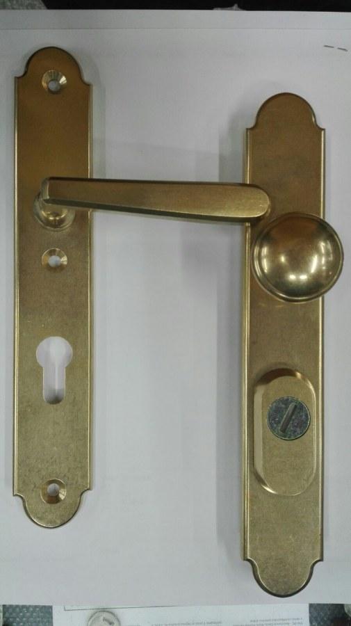 Bezpečnostní kování Individual Klika knoflík rozteč 90mm - Kování pro samozamykací zámky