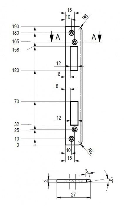 Protiplech Bera LRS - Protiplechy, dělené čtyřhrany