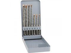 ALPEN HM-vrták do kladiva SDS-plus 4-spirálový 7-dílná sada v kovové kazetě DÍLNA - Nářadí, ruční nářadí, elektrické pomůcky, ochranné pomůcky - Vrtání - SDS sekáče