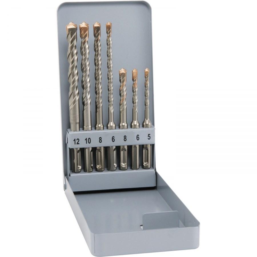 ALPEN HM-vrták do kladiva SDS-plus 4-spirálový 7-dílná sada v kovové kazetě - SDS sekáče