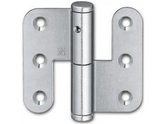 Závěs k našroubování pro bezfalcové dveře, 70 mm, levý, ocel pozinkovaná DVEŘE - Panty, Dveřní závěsy - Dveřní závěsy k našroubování