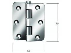 Speciální závěs 75 x 65 mm, ocel pozink DVEŘE - Panty, Dveřní závěsy - Dveřní závěsy k našroubování
