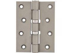 Závěs pro bezfalcové dveře, 101,6 x 76 x 3,0 mm, ocel poniklovaná matná DVEŘE - Panty, Dveřní závěsy - Dveřní závěsy k našroubování