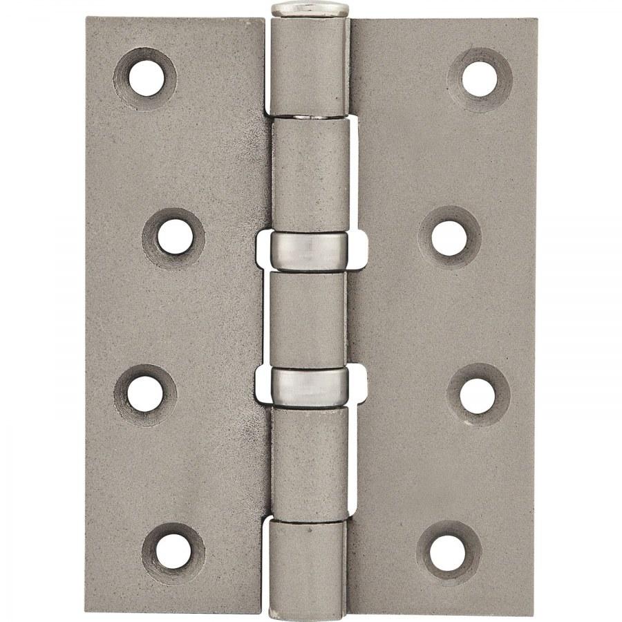 Závěs pro bezfalcové dveře, 101,6 x 76 x 3,0 mm, ocel poniklovaná matná - Dveřní závěsy k našroubování