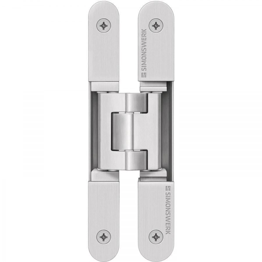 Dveřní závěs Tectus TE 240 3D N, skrytý pro bezfalcové dveře, stříbrný - Simonswerk Tectus