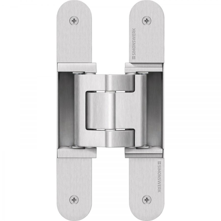 Dveřní závěs Tectus TE 540 3D A8, skrytý pro bezfalcové dveře, stříbrná barva F1 - Simonswerk Tectus