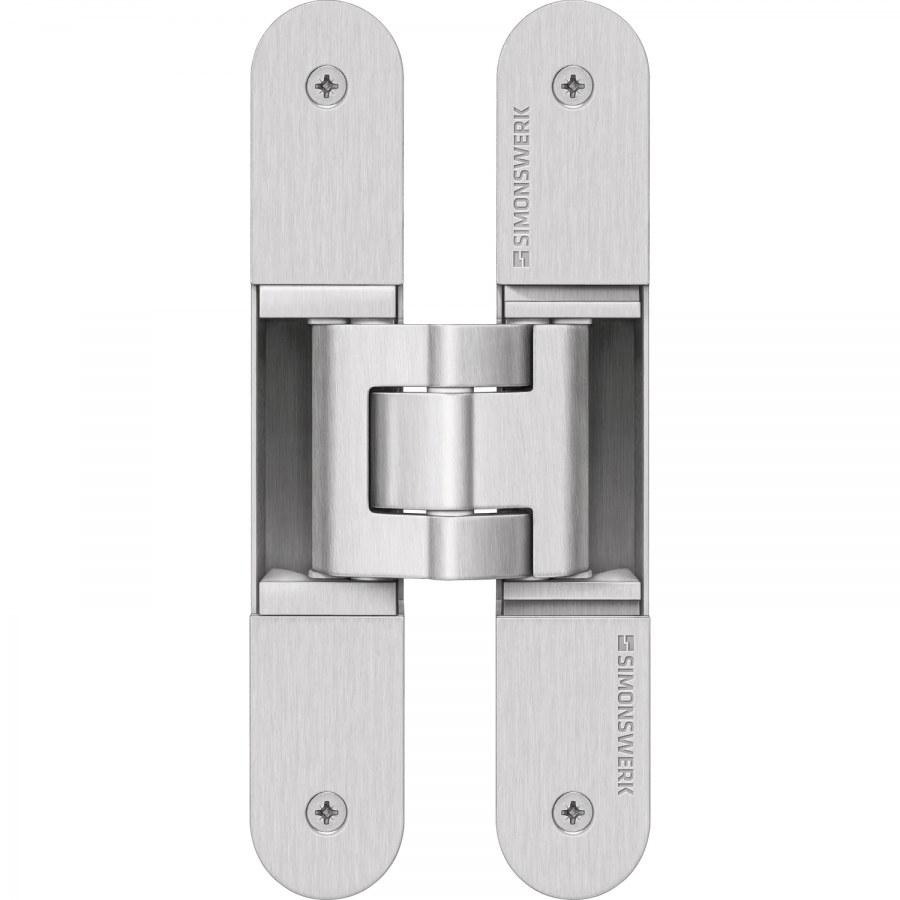 Dveřní závěs Tectus TE 340 3D, skrytý pro bezfalcové dveře, efekt nerez - Simonswerk Tectus