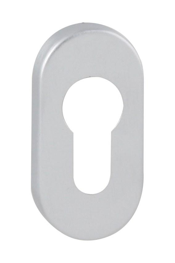 FT - rozeta ovál - PZ - 60x30 mm - Chrom broušený