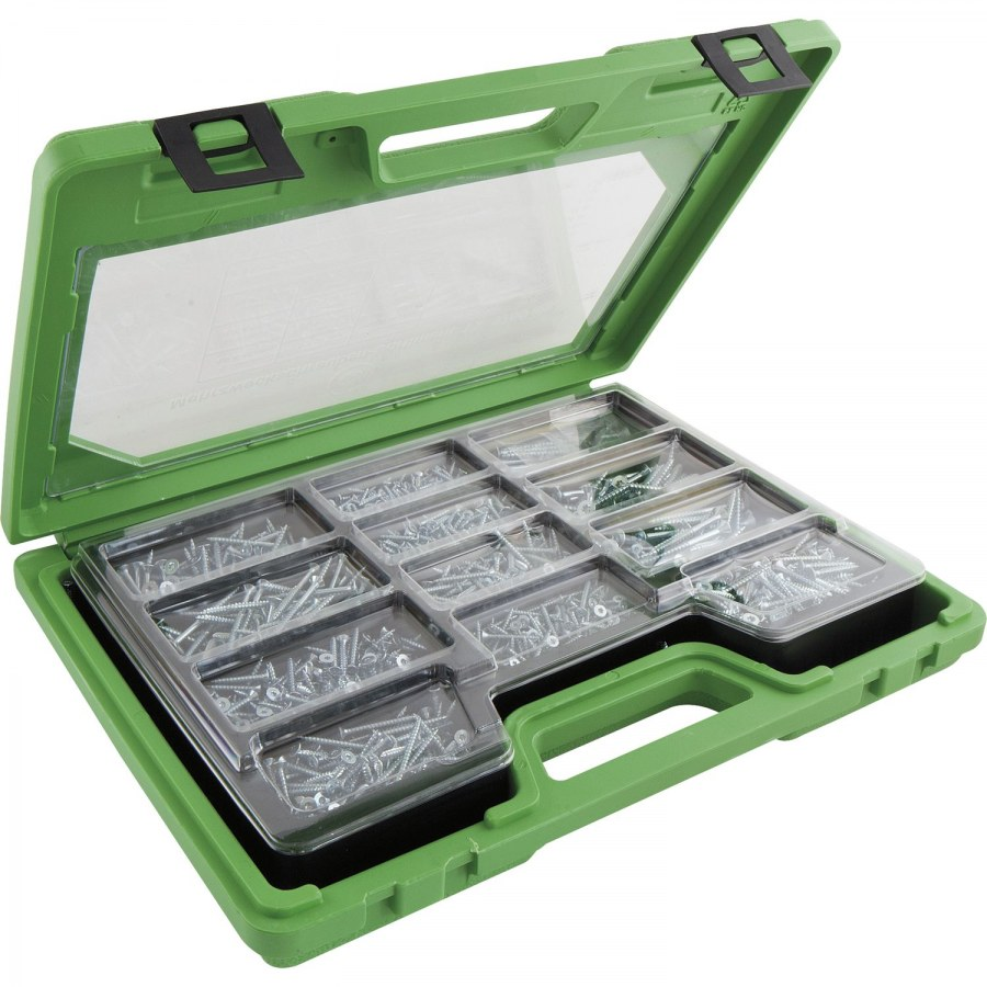 SECOTEC sortimentní kufřík vruty záp.hlava 1700 dílů PZ, ocel pozink - Kufry a pořadače na nářadí