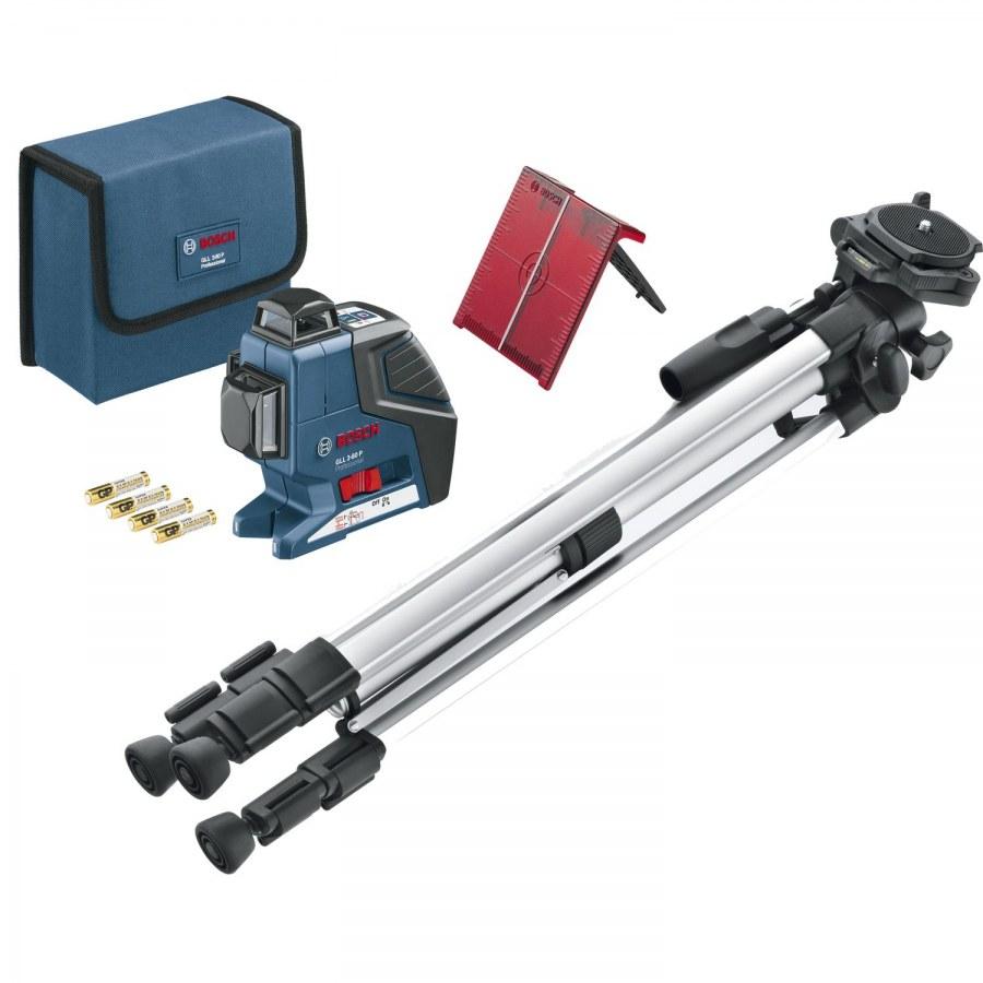 BOSCH multifunkční čárový laser GLL 3-80 P + BS 150 IP54 - Laserové měřící přístroje