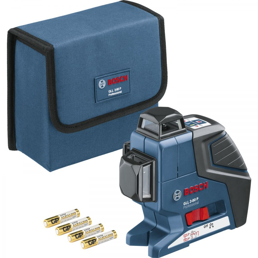 BOSCH Multifunkční čarový laser GLL 3-80 P + BT 150 + sada nářadí Gedore L-Box - Laserové měřící přístroje