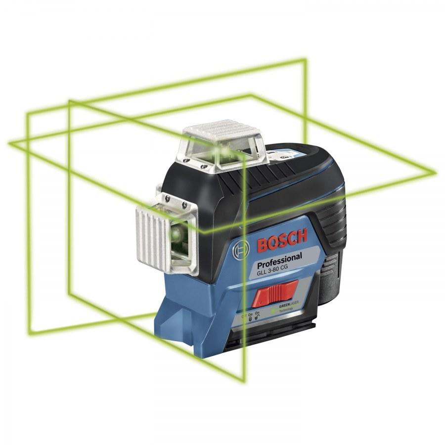 BOSCH čárový laser GLL 3-80 CG P + BM1 + L-Boxx - Laserové měřící přístroje