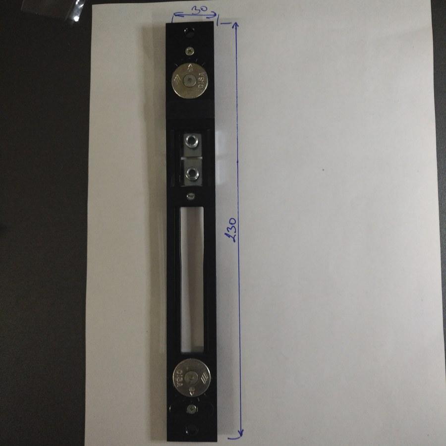 CISA 1-06463-07 - Protiplech nastavitelný pro zámky s výklopnou závorou, 230x30 mm - Protiplechy k zadlabávacím zámkům