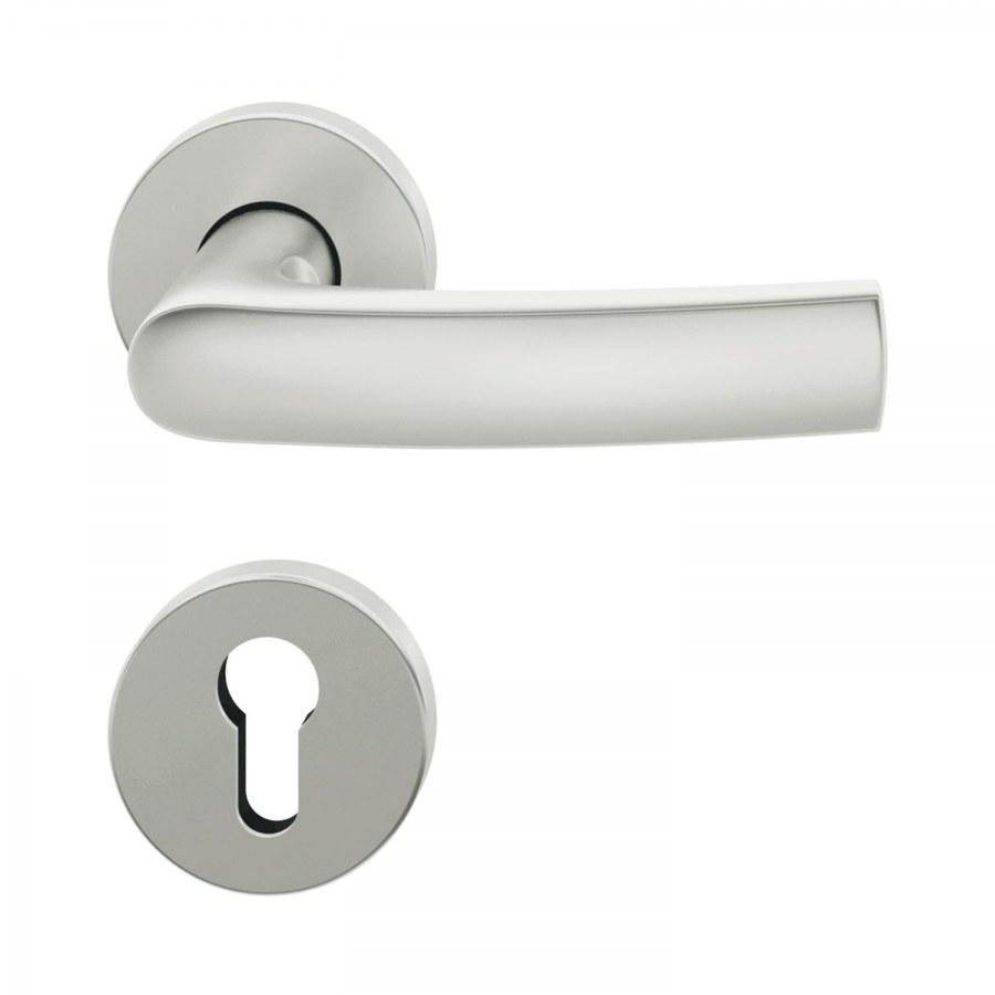 ASL dveřní kování FSB 12 1015, interiérové, klika-klika,stříbrný elox,rozeta PZ - Dveřní kování hliník