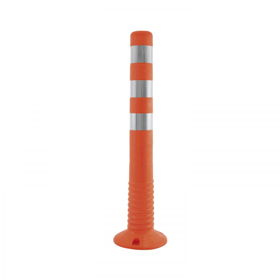 Parkovací sloupek ASK 80/750, plast oranžový/bílý
