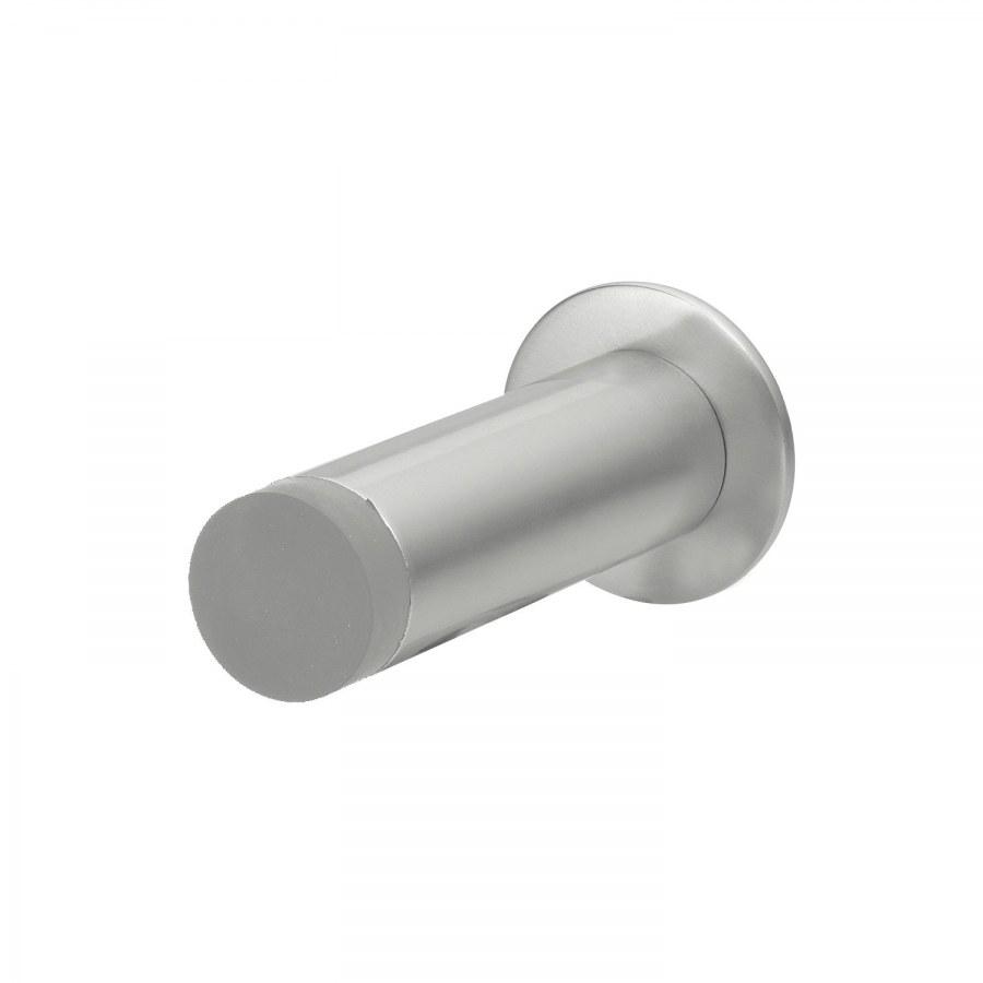 Dveřní zarážka SOLIDO ø20 mm, gumová patka L= 30 mm, montáž na zeď, hliník elox