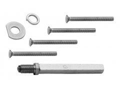 BK-prodloužení RX1/S, RX1/H 56-60 mm Dveře - Dveřní kování, dveřní příslušenství - Bezpečnostní kování - Bezpečnostní rozetové kování, přídavné kování - Bezpečnostní kování - náhradní díly