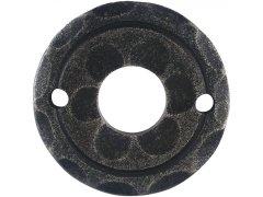 Kliková rozeta ø 50 mm, osazení 18 mm, pozink černý lakovaný DVEŘE - Dveřní kování, dveřní příslušenství - Interiérové kování - Dveřní kování tepané železo