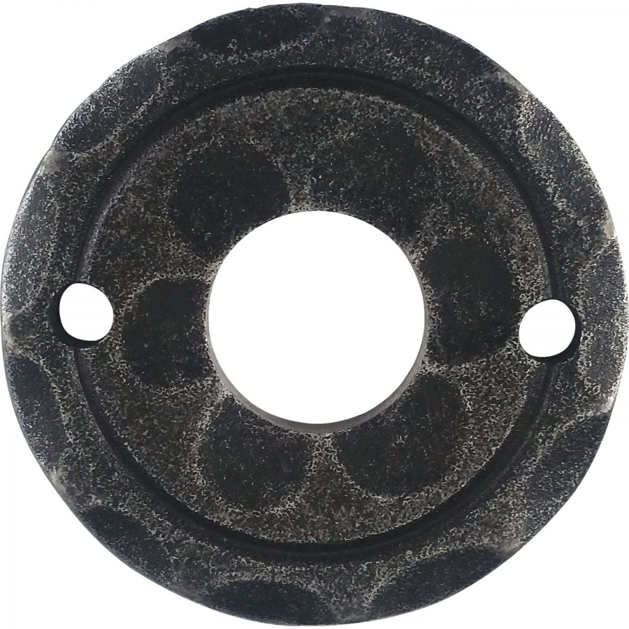 Kliková rozeta ø 50 mm, osazení 18 mm, pozink černý lakovaný