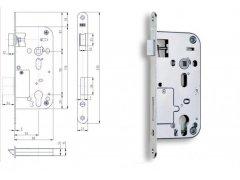 Bezpečnostní zámek Hobes K113 90/80 vložkový ŽELEZÁŘSTVÍ - Zámky - Zadlabávací zámky - Zadlabávací zámky na vložku, na klíč - Zadlabávací zámky na vložku rozteč 90