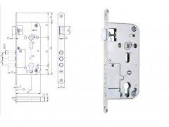 Bezpečnostní zámek Hobes K114 90/80 vložkový ŽELEZÁŘSTVÍ - Zámky - Zadlabávací zámky - Zadlabávací zámky na vložku, na klíč - Zadlabávací zámky na vložku rozteč 90