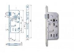 Zámek Hobes K 350C 90/80 obyčejný ŽELEZÁŘSTVÍ - Zámky - Zadlabávací zámky - Zadlabávací zámky na vložku, na klíč - Zadlabávací zámky na klíč rozteč 90