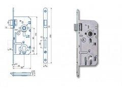 Zámek Hobes K 351C 90/80 vložkový ŽELEZÁŘSTVÍ - Zámky - Zadlabávací zámky - Zadlabávací zámky na vložku, na klíč - Zadlabávací zámky na vložku rozteč 90