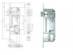 Zámek Hobes 02-06 90/60 vložkový ŽELEZÁŘSTVÍ - Zámky - Zadlabávací zámky - Zadlabávací zámky na vložku, na klíč - Zadlabávací zámky na vložku rozteč 90
