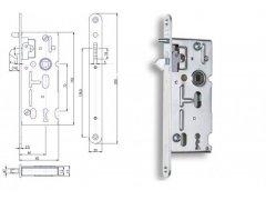 Zámek Hobes K 106 72/60 obyčejný ŽELEZÁŘSTVÍ - Zámky - Zadlabávací zámky - Zadlabávací zámky na vložku, na klíč - Zadlabávací zámky na klíč rozteč 72