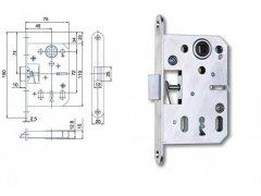 Zámek Hobes K 051 72/75 ŽELEZÁŘSTVÍ - Zámky - Zadlabávací zámky - Zadlabávací zámky na vložku, na klíč - Zadlabávací zámky na klíč rozteč 72