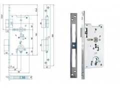 Zámek Hobes K 131 na vložku ŽELEZÁŘSTVÍ - Zámky - Zadlabávací zámky - Zadlabávací zámky na vložku, na klíč - Zadlabávací zámky na vložku rozteč 90
