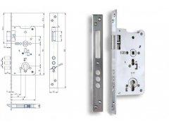 Zámek Hobes K 141 ŽELEZÁŘSTVÍ - Zámky - Zadlabávací zámky - Zadlabávací zámky na vložku, na klíč - Zadlabávací zámky na vložku rozteč 90