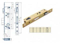 Zámek Hobes K 420 se zádlabem 40-50 mm ŽELEZÁŘSTVÍ - Zámky - Zadlabávací zámky - Zadlabávací zámky speciální provedení