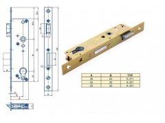 Zámek Hobes K 421 se zádlabem 45 mm ŽELEZÁŘSTVÍ - Zámky - Zadlabávací zámky - Zadlabávací zámky na vložku, na klíč - Zadlabávací zámky na vložku rozteč 90